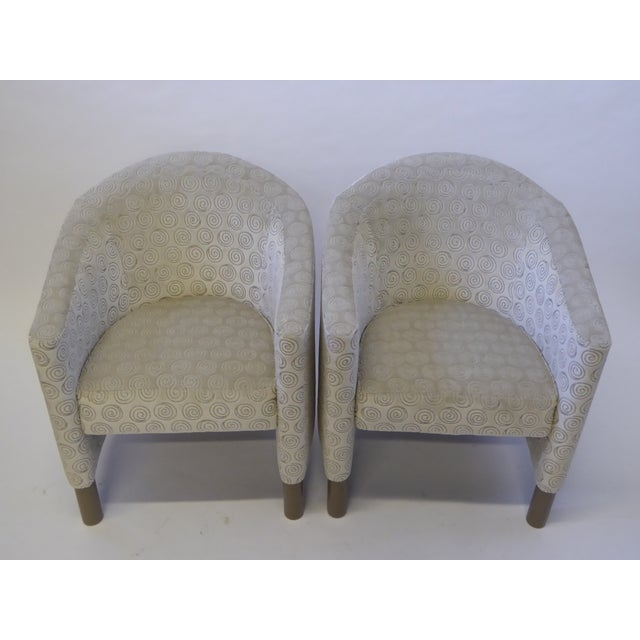 Mid-Century Modern Pair of 1970s Brayton International Collection Modern Club Tub Armchairs For Sale - Image 3 of 13