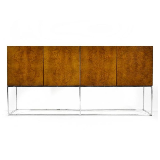 Thayer Coggin Milo Baughman Olive Ash Burl Credenza by Thayer Coggin For Sale - Image 4 of 10