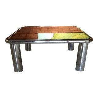 Mario Bellini for B & B Italia Chrome Table For Sale
