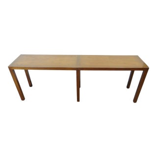 Beacon Hill Mid-Century Oak Parsons Console Table For Sale