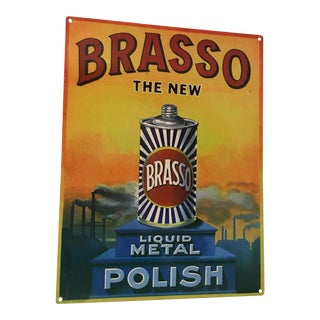 Reproduction of Brasso Advertising Tin For Sale