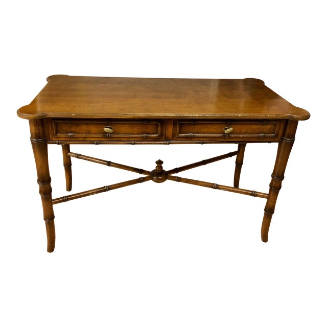 20th Century Regency-Style Faux Bamboo Writing Desk For Sale