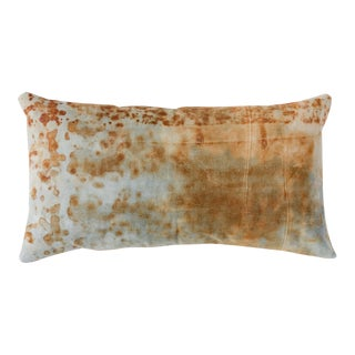 Rusted Canvas Lumbar Pillow For Sale