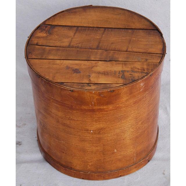 Vintage Rustic Round Wood Lidded Box - Image 5 of 11