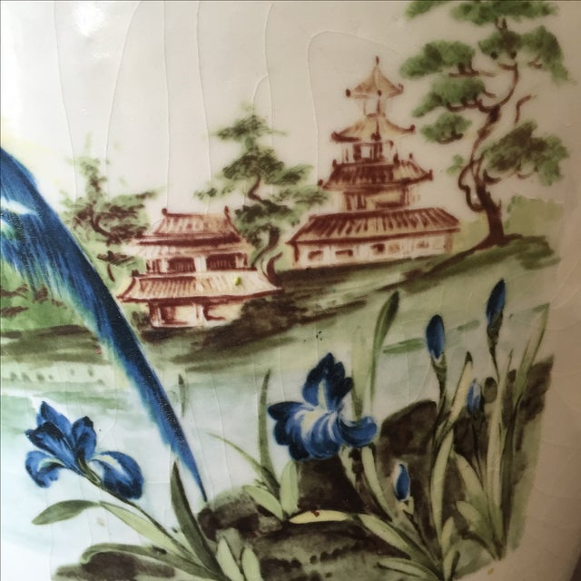 Large Vintage Vase With Peacock - Image 5 of 7