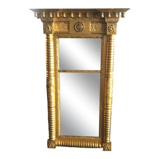 1800s Antique Federal Pier Mirror For Sale