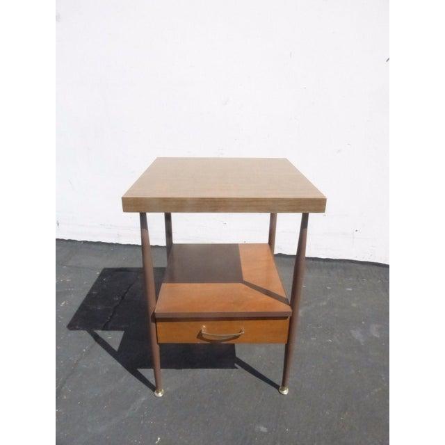 60 Mid Century Modern Vintage Half Moon Coffee Table: Vintage Danish Mid Century Modern Two Tier Side End Table