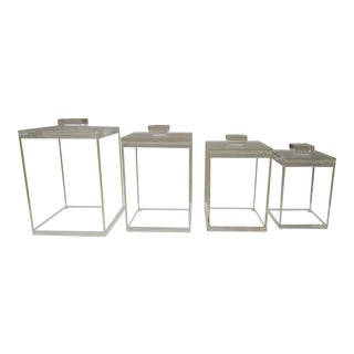 Lucite Storage Canister Set - Mid Century Modern Set For Sale