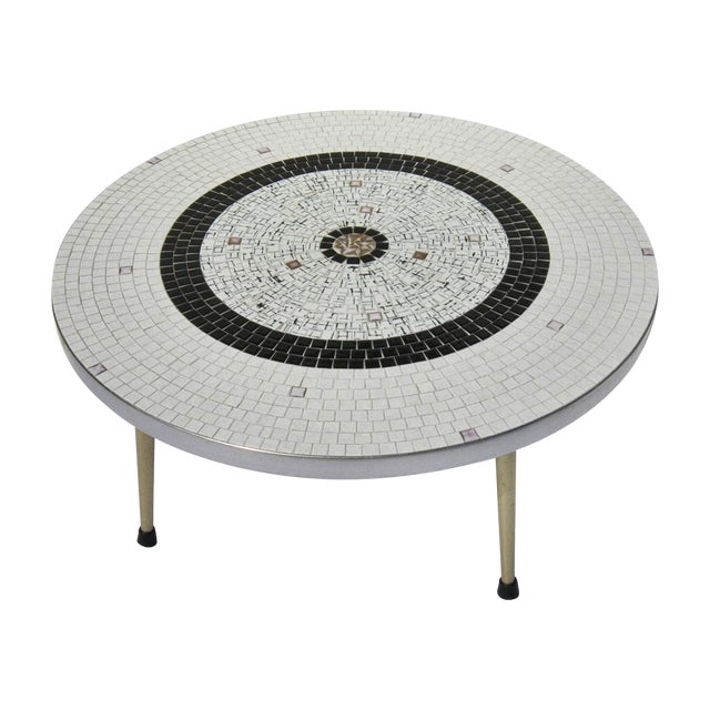 Mid-Century Tile Coffee Table - Image 1 of 6