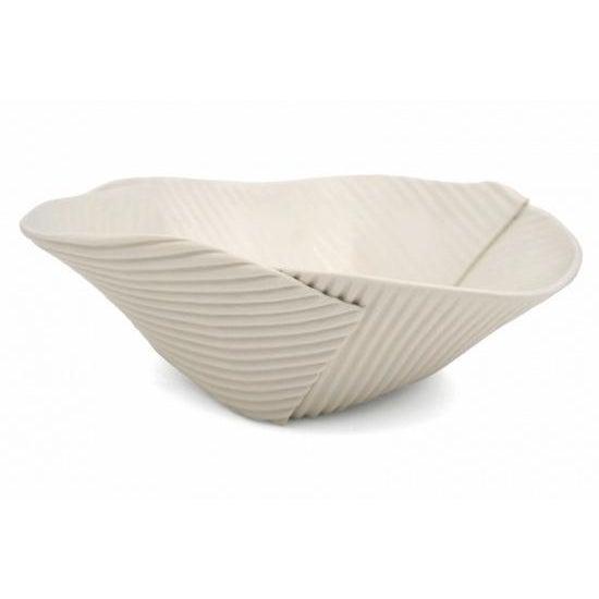 Contemporary Hand Built Corregated Porcelain Bowl For Sale - Image 3 of 3