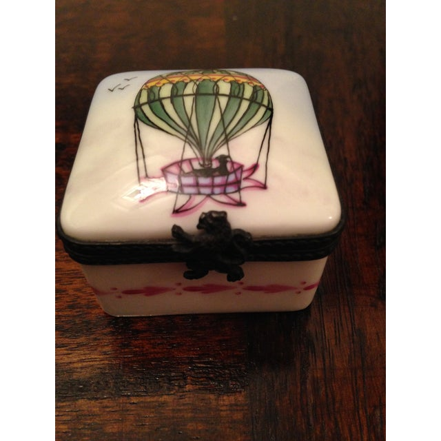 Vintage Limoges Square Hot Air Balloon Box - Image 2 of 5