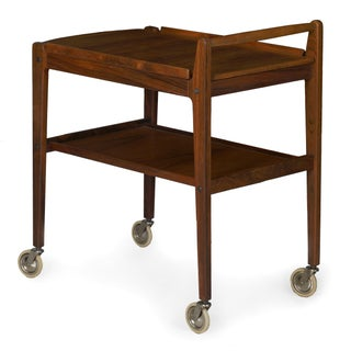 Vintage Swedish Mid-Century Modern Accent Table Serving Bar Cart by Erik Gustafsson Preview