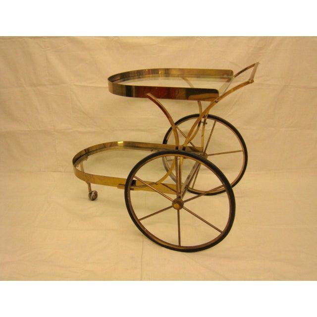 Deco Brass Bar Cart - Image 10 of 10