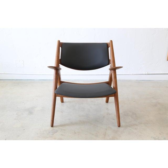Mid 20th Century Hans J. Wegner Danish Modern Sawbuck Chair Ch28 For Sale - Image 5 of 9