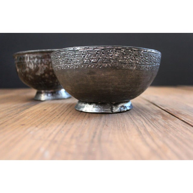Mid 19th Century Antique Ottoman-Era Copper Bowls-a Pair For Sale - Image 5 of 8