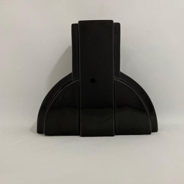 Postmodern Black Ceramic Vase For Sale - Image 13 of 13