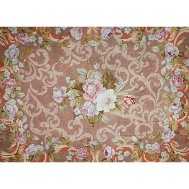 French Restoration period handwoven antique Aubusson rug, circa 1830 Material: wool Dimensions: 290 x 240 cm / 9.5 x 7.87...