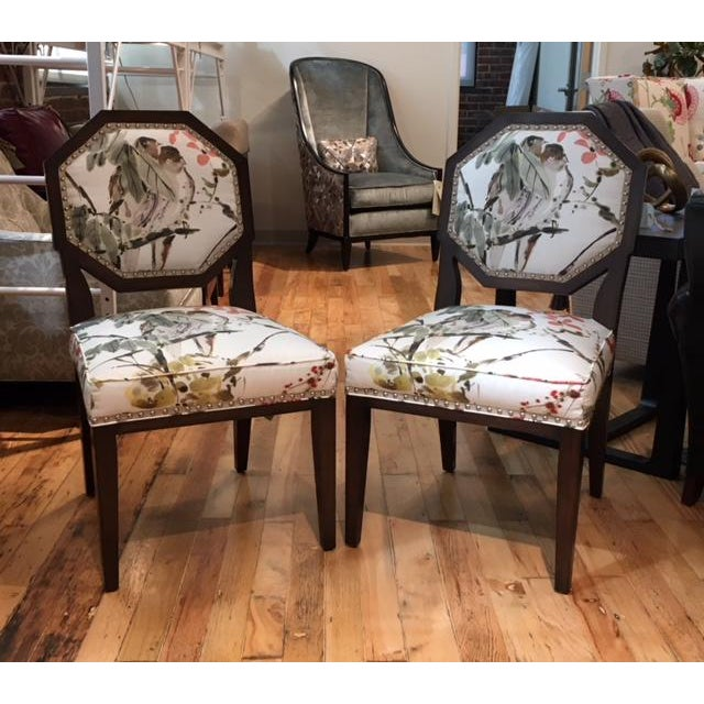 Cotton Mary McDonald for Chaddock Chantal Side Chairs - A Pair For Sale - Image 7 of 7