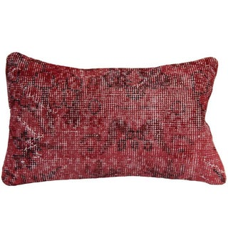 Vintage Red Over-Dyed Pillow Covers For Sale
