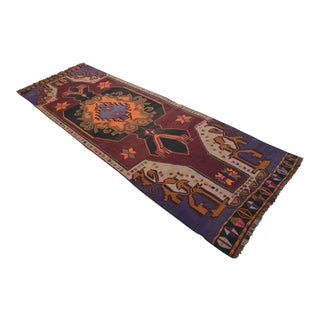 Hand-Woven Turkish Runner Rug. Tribal Long and Wide Runner 4′8″ × 14′3″