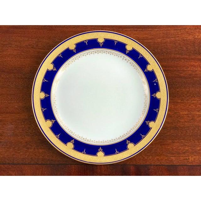 Minton Cobalt Blue Dinner Plates - Set of 12 For Sale - Image 4 of 8