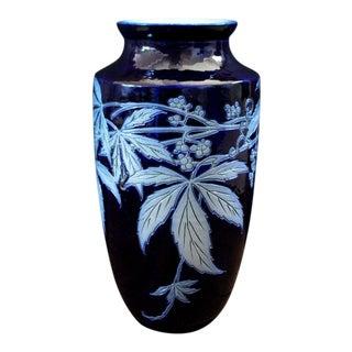 Vintage Arts and Craft Movement Cobalt Blue Vase For Sale
