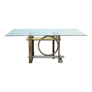 Post Modern Mixed Metal Dining Table by Kaizo Oto for Dia For Sale