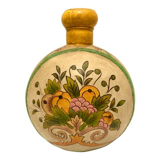 Vintage Hand Painted Indian Moon Flask For Sale