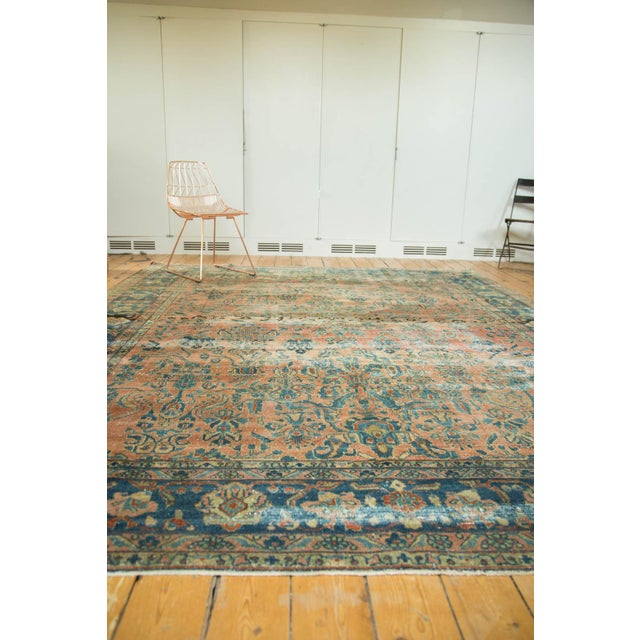 "Antique Distressed Lilihan Carpet - 9' x 11'1"" - Image 8 of 10"