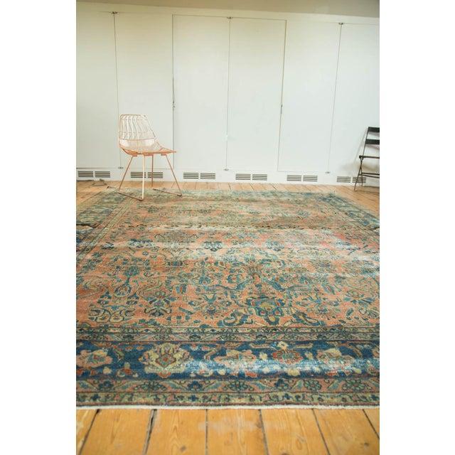"Antique Distressed Lilihan Carpet - 9' x 11'1"" - Image 8 of 10"