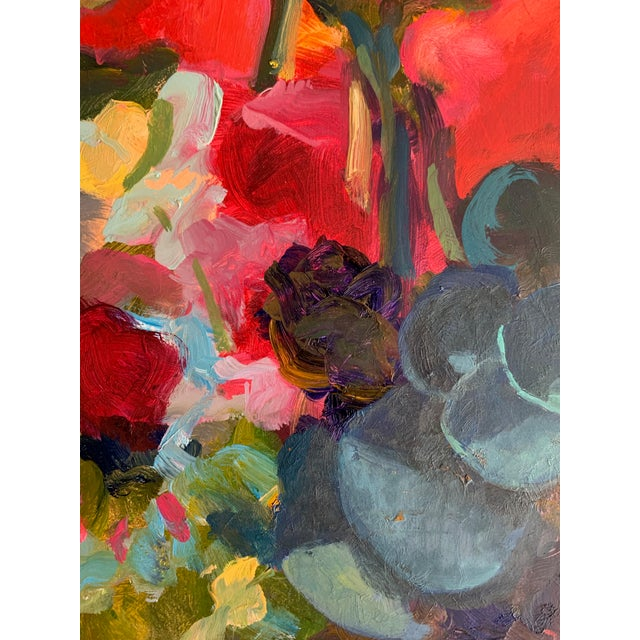 Pink Bouquet Eucalyptus Painting For Sale - Image 4 of 8