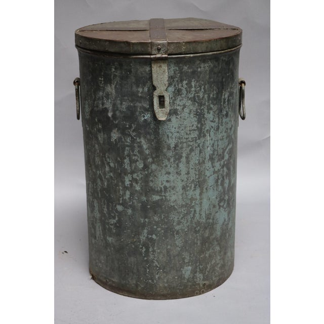 Metal 1920s Rustic Metal Container For Sale - Image 7 of 7