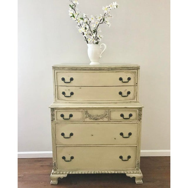Country Grey French Tall Dresser - Image 3 of 8