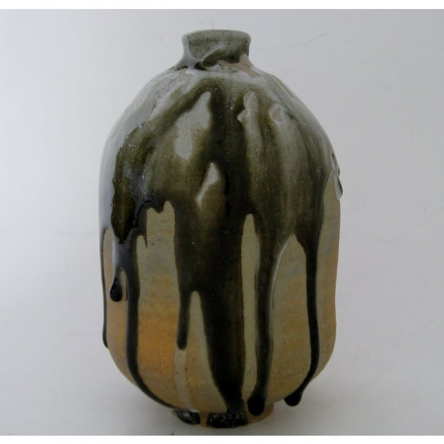 Heavy Drip Gloss Artisan Ceramic Vase - Image 3 of 7