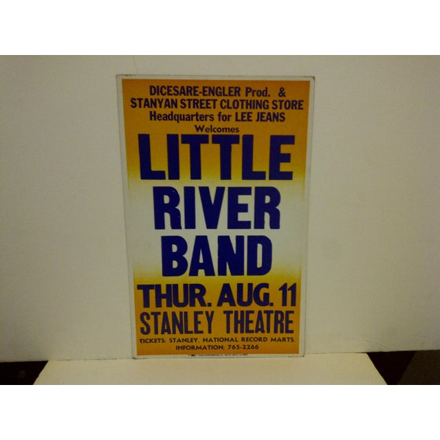 """A vintage concert poster -- """"Little River Band"""" -- Thursday -- August 11 -- Stanley Theatre. This poster is made of thick..."""