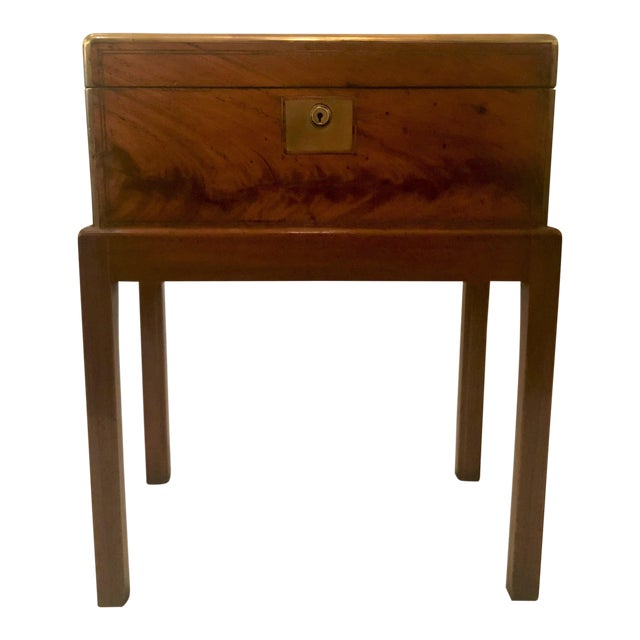Antique English Mid 19th Century Mahogany Writing Box on Stand. For Sale