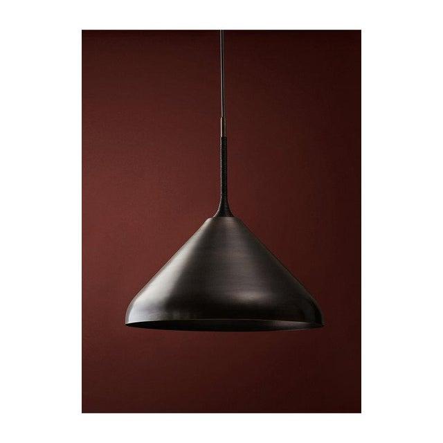 "Radnor Pelle 20"" Stem Shade Pendant For Sale - Image 4 of 4"