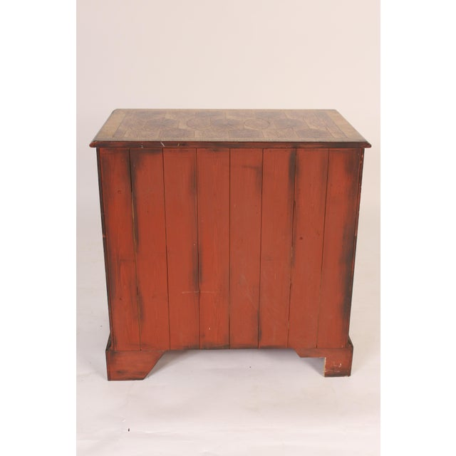 Georgian Style Oyster Burl Chest of Drawers For Sale - Image 4 of 12