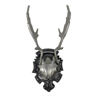Deer Antlers Mounted on Plaque For Sale