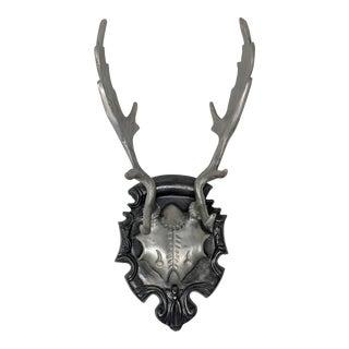 European Roe Deer Cast Antlers With Plaque
