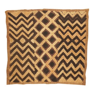Vintage Handwoven Kuba Textile-African Art-Wall Hanging/Mat/Fashion For Sale
