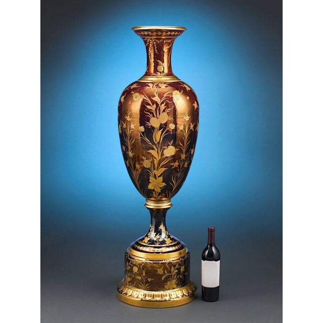 This rare and magnificent Royal Vienna Porcelain vase is a work of tremendous artistry. Monumental in size and beauty,...