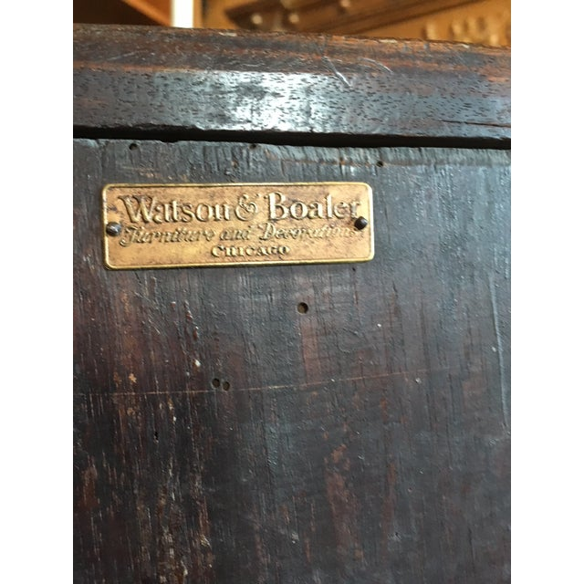 1900s Renaissance Revival Oak Prie Dieu Watson & Boaler Nightstand For Sale - Image 10 of 11