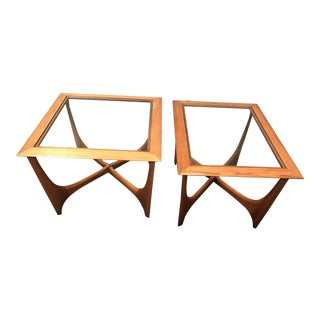 Adrian Pearsall Lane Walnut Tables - A Pair