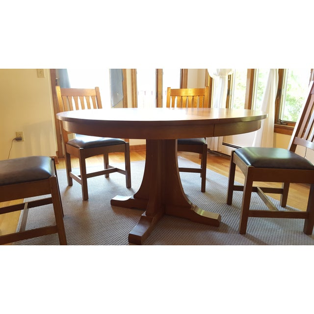 Mission Style Stickley Oak Dining Set Of 9 Chairish