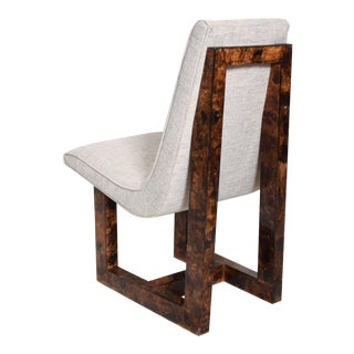 Set of 6 Mid Century Mexican Modernist Sculptural Burlwood Dining Chairs For Sale