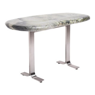 Meditation Stone Top Desk For Sale