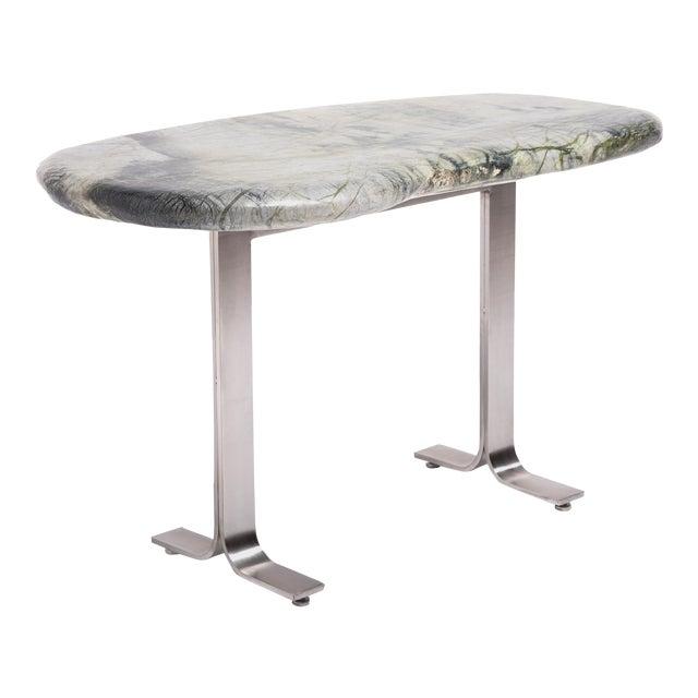 Meditation Stone Top Desk For Sale