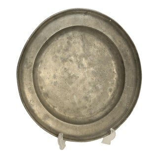Antique Continental Pewter Charger