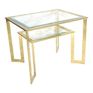 Modernist 2-Tier Glass Side Table